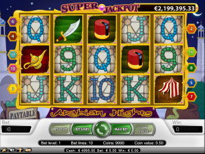 Jackpot na automatu Arabian Nights je taktéž rekordní