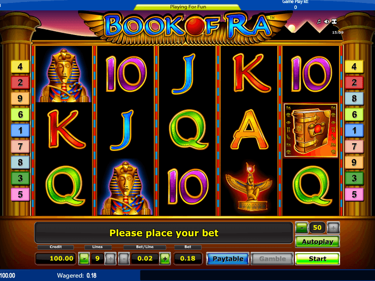 online casino free play book of ra automat