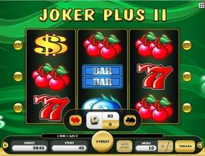 Na automatu Joker Plus 2 lze výhry velmi snadno dublovat jediným klepnutím myší