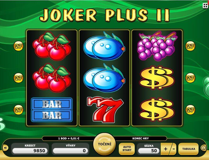 Online výherní automat Joker Plus 2 v celé své kráse