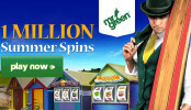 Logo soutěže Mr Green Casino rozdává jeden milion letních Free Spinů