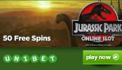 Padesát Free Spinů na automatu Jurassic Park u Unibet Casina