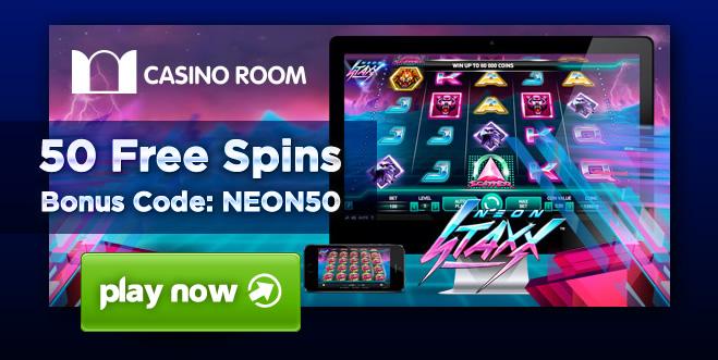 Padesát Free Spinů na automatu Neon Staxx u CasinoRoom