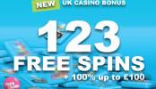 Sto a třiadvacet Free Spinů k vybrání u Vera & John Casino