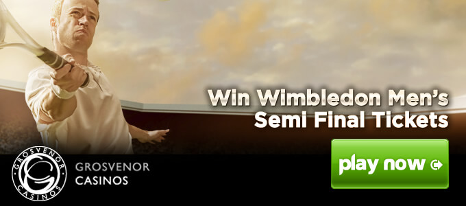 Vyhrajte lístek na finále ve Wimbledonu u Grosvenor Casina