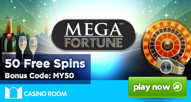 Padesát Free Spinů na automatu Mega Fortune u CasinoRoom