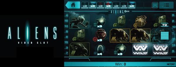 Internetový mobilní výherní The Aliens