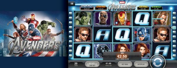 Mobilní internetový výherní automat The Avengers