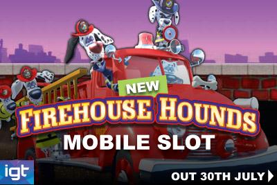 Mobilní výherní automat Firehouse Hounds od IGT dorazí brzy