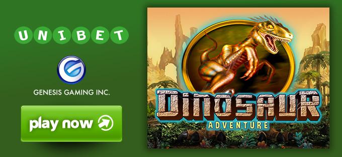 Unibet Casino má exkluzivně automat Dinosaur Adventure
