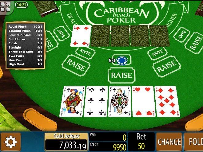 play caribbean stud online free