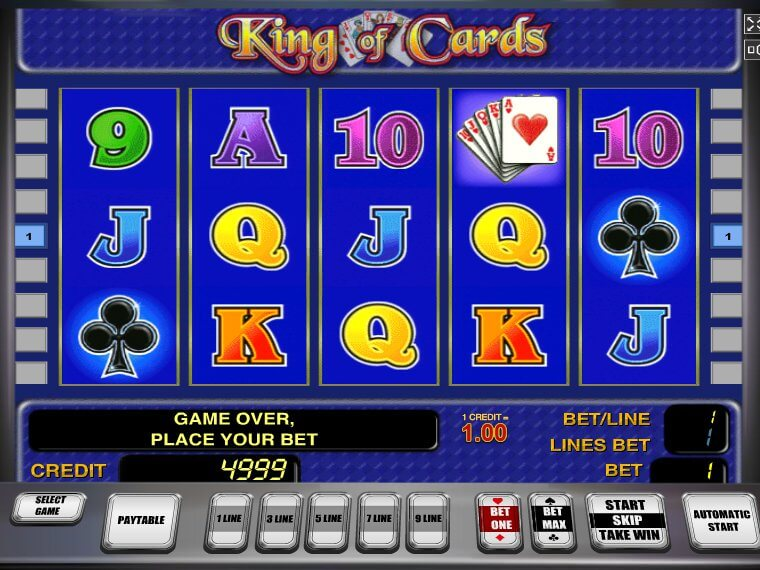online casino free bonus king of cards