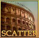 Scatter symbol z hracího automatu Gladiator Jackpot