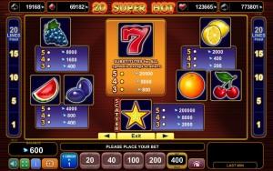 Online výherní automat 20 Super Hot zdarma