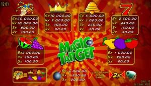 Online herní automat Magic Target