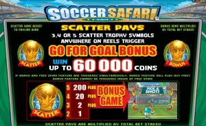 Scatter online automat Soccer Safari