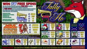 Výherní automat Tally Ho online zdarma
