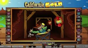 Obrázek z automatové hry California Gold online zdarma