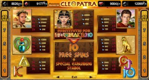 Výherní online automat zdarma Grace of Cleopatra