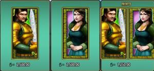 Symboly z online hracího automat Lancelot