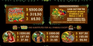Herní casino automat Sweet Harvest online