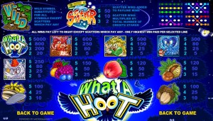 Online casino automat What a Hoot zdarma