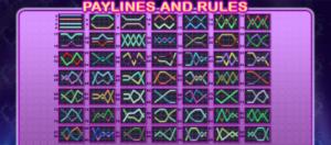 Herní linie online hracího automatu 100 Cats