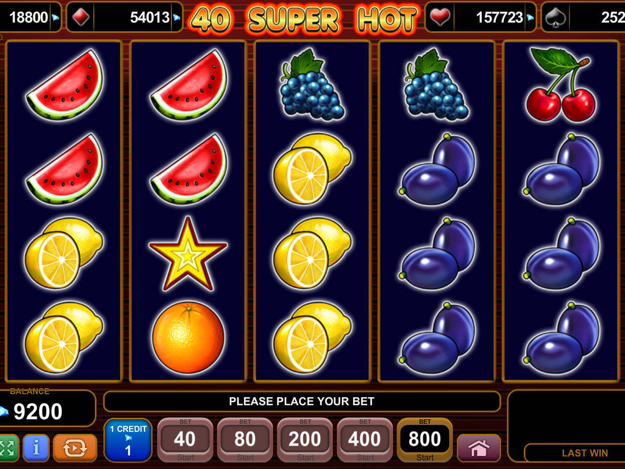40 Super Hot™ Slot Machine Game to Play Free in Euro Games Technologys Online Casinos
