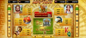 Obrázek ze hry automatu Age of Troy online bez registrace