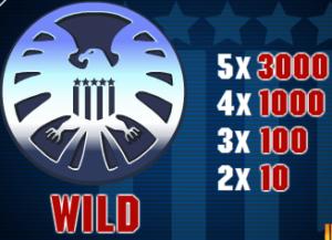 Wild symbol ze hry automatu Iron Man 2 - 50 Lines zdarma online