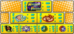 Tabulka výher ze hry automat Natural Powers zdarma