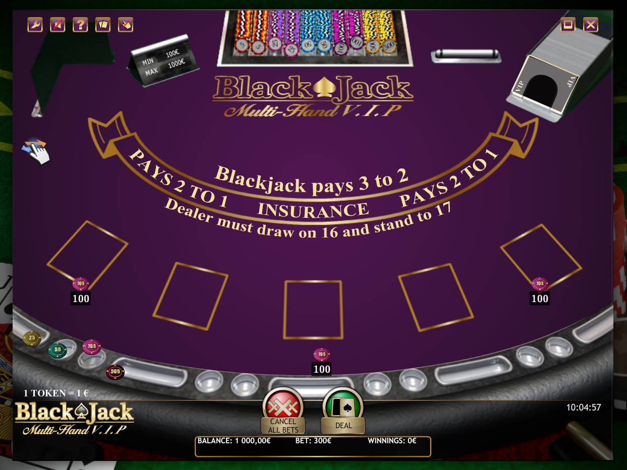 blackjack automat