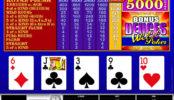 Online casino automat Bonus Duces Wild zdarma