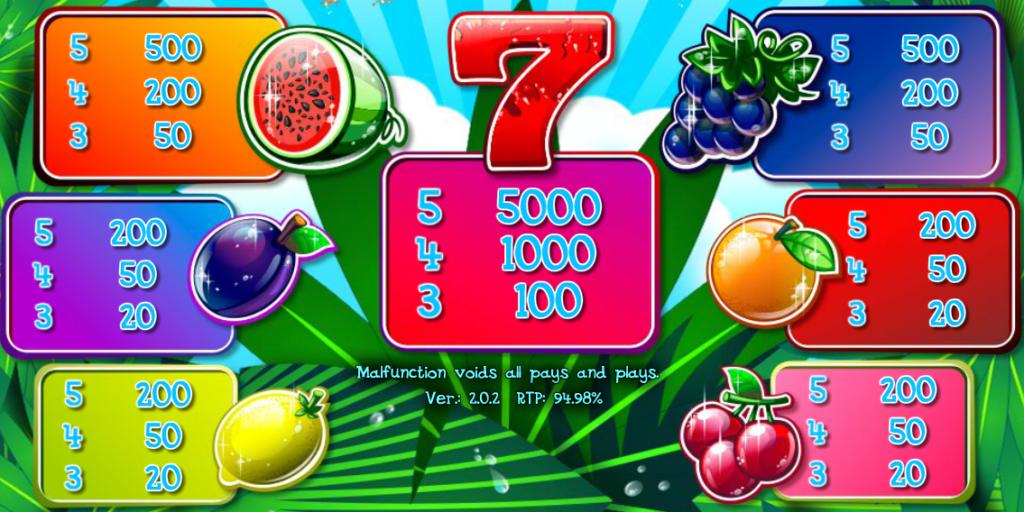 Online automat Juice'n'Fruits online
