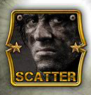 Scatter symbol - Rambo online zdarma
