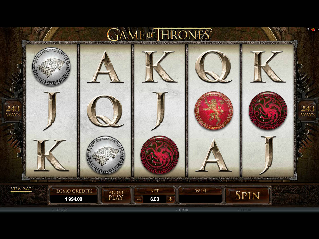 Game of Thrones™ Hra Hrací Automat Zadarmo na Microgaming s Online Kasínach