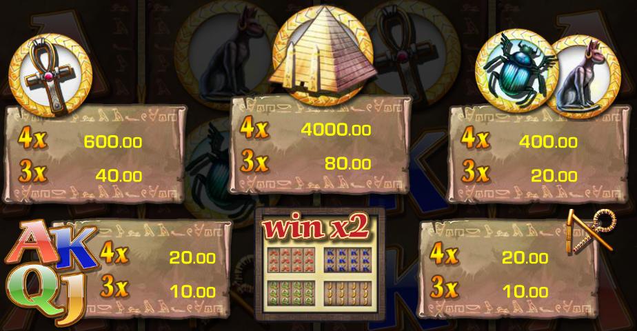 Pyramids of Egypt online automat zdarma