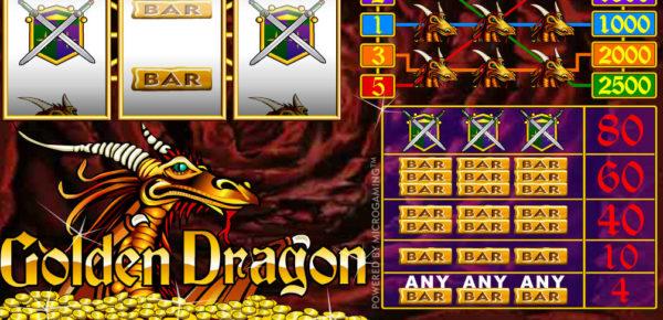 Herní automat Golden Dragon bez registrace