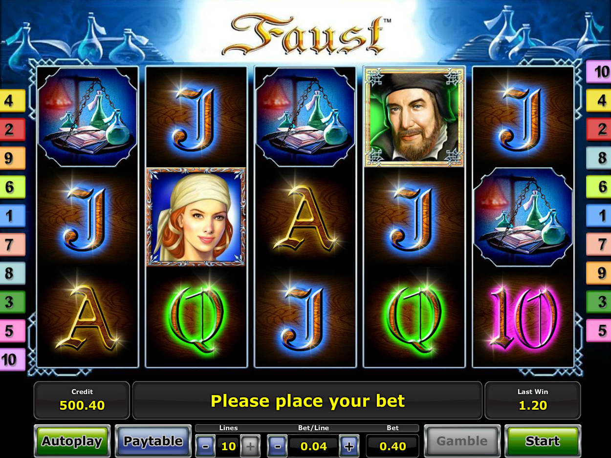 online casino games faust symbol