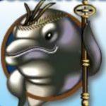 Wild symbol z online automatu Dolphin King