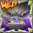 Wild symbol z online automatu Golden Gorilla