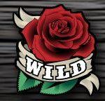 Wild symbol z výherního automatu Pistols and Roses