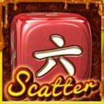 Scatter symbol z online automatu Caramel Dice