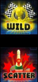 Bonusové symboly ze hry automatu Crazy Cars