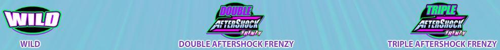 Bonusové symboly z herního automatu AfterShock Frenzy