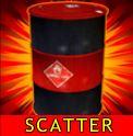 Symbol scatter z casino automatu Hydro Heat