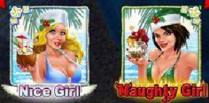 Obrázek wild symbolů ze hry Naughty or Nice Spring Break