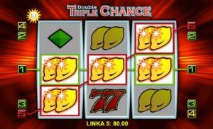 Výhra v herním automatu Double Triple Chance online