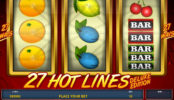 27 Hot Lines Deluxe online hrací automat