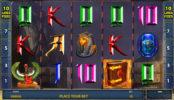 Obrázek ze hry automatu Amun's Book